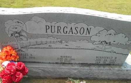 COLLOP PURGASON, WINNIFRED - Howell County, Missouri | WINNIFRED COLLOP PURGASON - Missouri Gravestone Photos