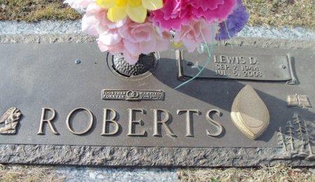 ROBERTS, LEWIS D. - Howell County, Missouri | LEWIS D. ROBERTS - Missouri Gravestone Photos