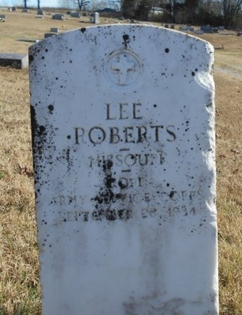 ROBERTS, LEE VETERAN - Howell County, Missouri | LEE VETERAN ROBERTS - Missouri Gravestone Photos