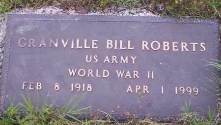 ROBERTS, GRANVILLE BILL VETERAN WWII - Howell County, Missouri   GRANVILLE BILL VETERAN WWII ROBERTS - Missouri Gravestone Photos