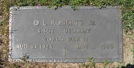ROBERTS, O L VETERAN WWII - Howell County, Missouri | O L VETERAN WWII ROBERTS - Missouri Gravestone Photos