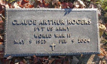 ROGERS, CLAUDE ARTHUR VETERAN WWII - Howell County, Missouri | CLAUDE ARTHUR VETERAN WWII ROGERS - Missouri Gravestone Photos