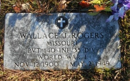 ROGERS, WALLACE J. VETERAN WWI - Howell County, Missouri   WALLACE J. VETERAN WWI ROGERS - Missouri Gravestone Photos
