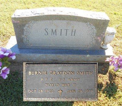SMITH, BURNIE GRAYDON VTERAN WWII - Howell County, Missouri | BURNIE GRAYDON VTERAN WWII SMITH - Missouri Gravestone Photos