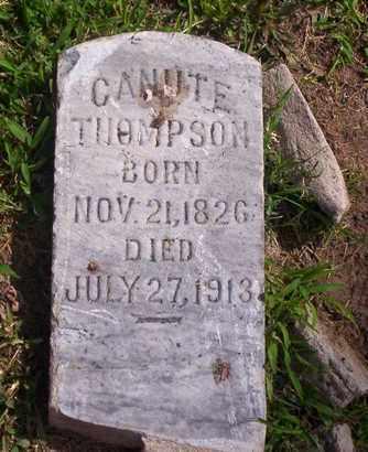 THOMPSON, CANUTE - Howell County, Missouri | CANUTE THOMPSON - Missouri Gravestone Photos