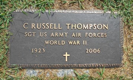 THOMPSON, C. RUSSELL VETERAN WWII - Howell County, Missouri | C. RUSSELL VETERAN WWII THOMPSON - Missouri Gravestone Photos