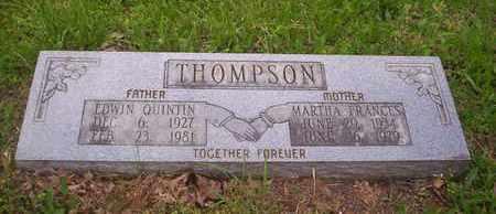THOMPSON, EDWIN QUINTIN - Howell County, Missouri | EDWIN QUINTIN THOMPSON - Missouri Gravestone Photos