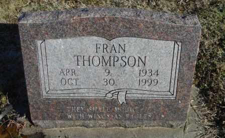 THOMPSON, FRAN - Howell County, Missouri | FRAN THOMPSON - Missouri Gravestone Photos