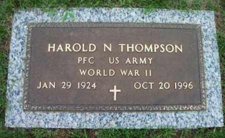 THOMPSON, HAROLD N. VETERAN WWII - Howell County, Missouri | HAROLD N. VETERAN WWII THOMPSON - Missouri Gravestone Photos
