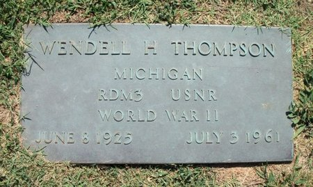 THOMPSON, WENDELL H. VETERAN WWII - Howell County, Missouri | WENDELL H. VETERAN WWII THOMPSON - Missouri Gravestone Photos