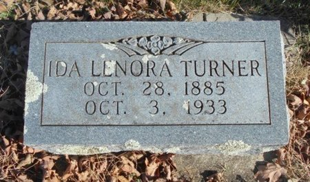 TURNER, IDA LENORA - Howell County, Missouri   IDA LENORA TURNER - Missouri Gravestone Photos
