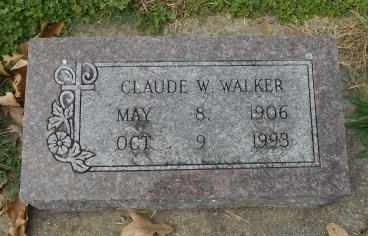 WALKER, CLAUDE W. - Howell County, Missouri | CLAUDE W. WALKER - Missouri Gravestone Photos