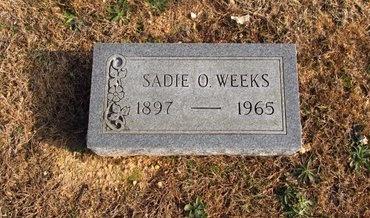 PURRIER WEEKS, SADIE OLIVE - Howell County, Missouri | SADIE OLIVE PURRIER WEEKS - Missouri Gravestone Photos