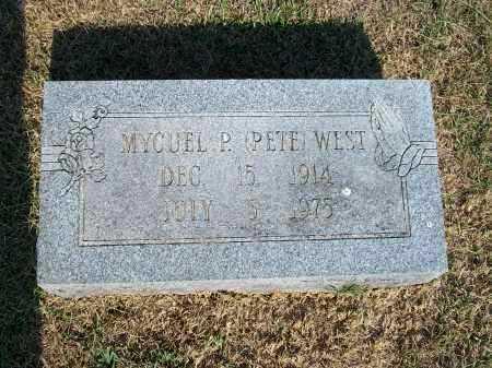 "WEST, MYCUEL P. ""PETE"" - Howell County, Missouri | MYCUEL P. ""PETE"" WEST - Missouri Gravestone Photos"