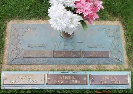 WEST, RUBY OLIVER - Howell County, Missouri | RUBY OLIVER WEST - Missouri Gravestone Photos