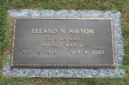 WILSON, LELAND N. VETERAN WWII - Howell County, Missouri | LELAND N. VETERAN WWII WILSON - Missouri Gravestone Photos