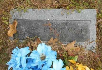 WRIGHT, INFANT SON - Howell County, Missouri   INFANT SON WRIGHT - Missouri Gravestone Photos