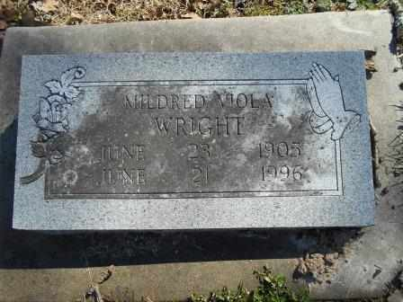 WRIGHT, MILDRED VIOLA - Howell County, Missouri | MILDRED VIOLA WRIGHT - Missouri Gravestone Photos