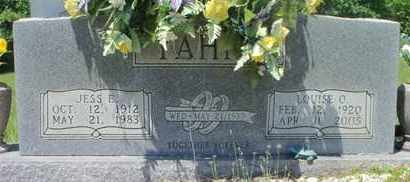 YAHNE, JESS E. - Howell County, Missouri | JESS E. YAHNE - Missouri Gravestone Photos
