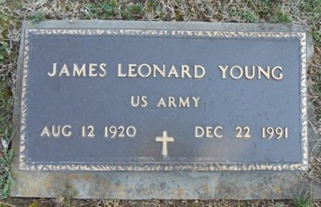 YOUNG, JAMES LEONARD VETERAN - Howell County, Missouri   JAMES LEONARD VETERAN YOUNG - Missouri Gravestone Photos