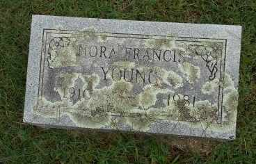 YOUNG, NORA FRANCES - Howell County, Missouri   NORA FRANCES YOUNG - Missouri Gravestone Photos