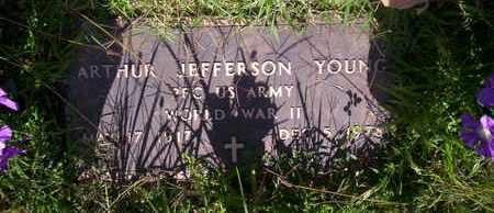 YOUNG, ARTHUR JEFFERSON VETERAN WWII - Howell County, Missouri | ARTHUR JEFFERSON VETERAN WWII YOUNG - Missouri Gravestone Photos