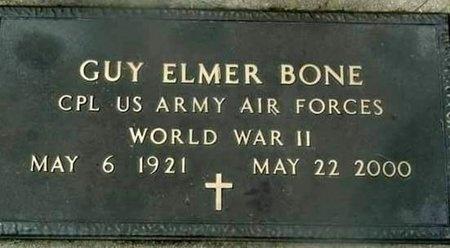 BONE, GUY ELMER VETERAN WWII - Iron County, Missouri | GUY ELMER VETERAN WWII BONE - Missouri Gravestone Photos