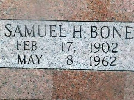 BONE, SAMUEL HARMON - Iron County, Missouri   SAMUEL HARMON BONE - Missouri Gravestone Photos