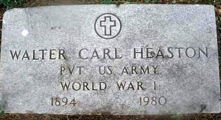 HEASTON, WALTER CARL VETERAN WWI - Iron County, Missouri | WALTER CARL VETERAN WWI HEASTON - Missouri Gravestone Photos