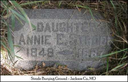 "STODE, ANNA ELIZABETH ""ANNIE"" - Jackson County, Missouri | ANNA ELIZABETH ""ANNIE"" STODE - Missouri Gravestone Photos"