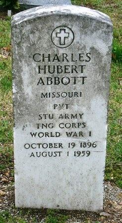 ABBOTT, CHARLES HUBERT (VETERAN WWI) - Jasper County, Missouri | CHARLES HUBERT (VETERAN WWI) ABBOTT - Missouri Gravestone Photos
