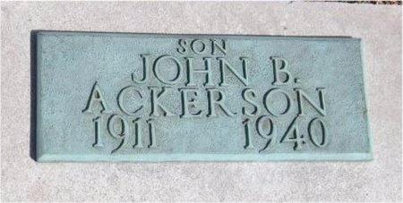 ACKERSON, JOHN B - Jasper County, Missouri   JOHN B ACKERSON - Missouri Gravestone Photos
