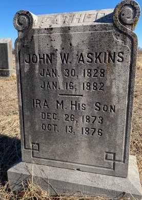 ASKINS, IRA M - Jasper County, Missouri   IRA M ASKINS - Missouri Gravestone Photos