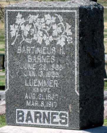 WILSON BARNES, LUEMMER - Jasper County, Missouri | LUEMMER WILSON BARNES - Missouri Gravestone Photos