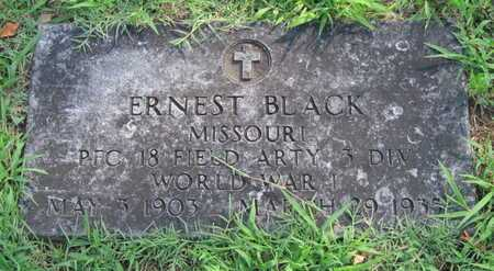 BLACK, ERNEST VETERAN WWI - Jasper County, Missouri | ERNEST VETERAN WWI BLACK - Missouri Gravestone Photos