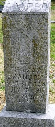 BRANDON, THOMAS (VETERAN UNION) - Jasper County, Missouri | THOMAS (VETERAN UNION) BRANDON - Missouri Gravestone Photos