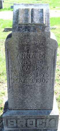 BROCK, ANNA M - Jasper County, Missouri | ANNA M BROCK - Missouri Gravestone Photos