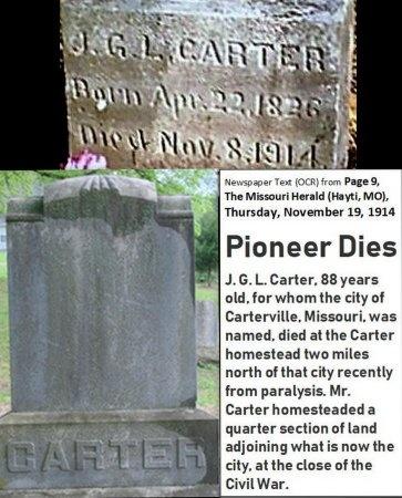 CARTER, JAMES GILBERT LEROY - Jasper County, Missouri | JAMES GILBERT LEROY CARTER - Missouri Gravestone Photos