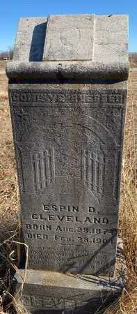 CLEVELAND, ESPIN D. - Jasper County, Missouri   ESPIN D. CLEVELAND - Missouri Gravestone Photos