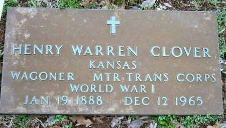 CLOVER, HENRY WARREN (VETERAN WWI) - Jasper County, Missouri   HENRY WARREN (VETERAN WWI) CLOVER - Missouri Gravestone Photos