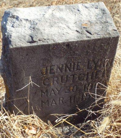 CRUTCHER, JENNIE LYNN - Jasper County, Missouri | JENNIE LYNN CRUTCHER - Missouri Gravestone Photos