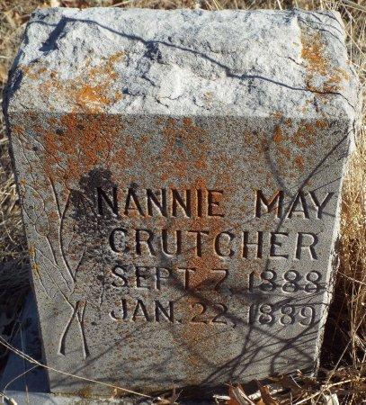 CRUTCHER, NANNIE MAY - Jasper County, Missouri   NANNIE MAY CRUTCHER - Missouri Gravestone Photos