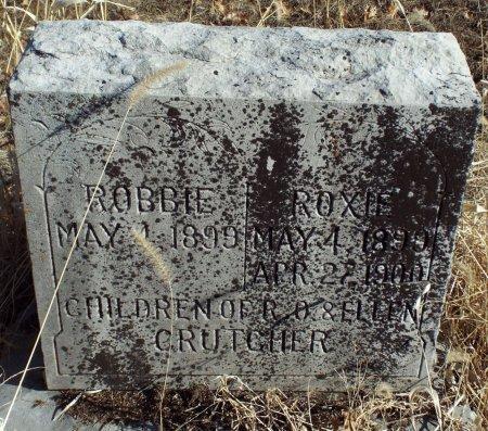 CRUTCHER, ROBBIE - Jasper County, Missouri | ROBBIE CRUTCHER - Missouri Gravestone Photos