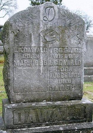 DAVIS DAWALD, ROSA GERTRUDE - Jasper County, Missouri | ROSA GERTRUDE DAVIS DAWALD - Missouri Gravestone Photos