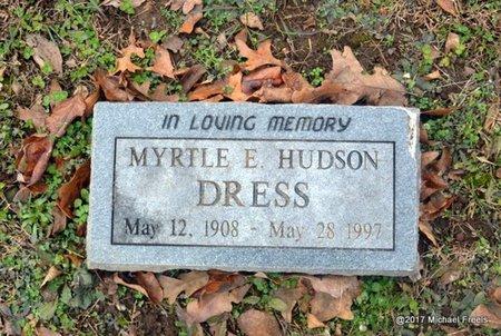 HUDSON DRESS, MYRTLE E. - Jasper County, Missouri | MYRTLE E. HUDSON DRESS - Missouri Gravestone Photos