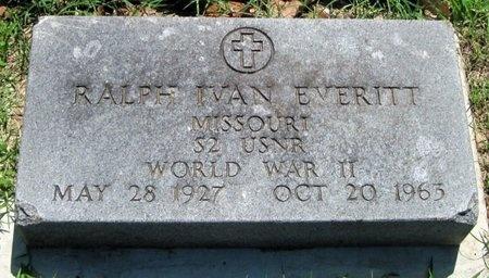 EVERITT, RALPH IVAN VETERAN WWII - Jasper County, Missouri   RALPH IVAN VETERAN WWII EVERITT - Missouri Gravestone Photos
