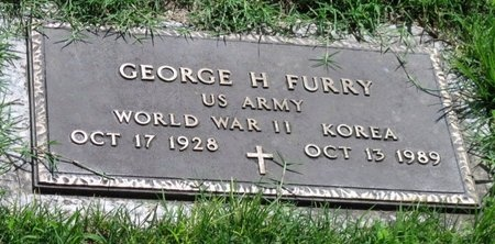 FURRY, GEORGE H JR  VETERAN WWII KOR - Jasper County, Missouri | GEORGE H JR  VETERAN WWII KOR FURRY - Missouri Gravestone Photos