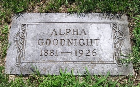 GOODNIGHT, ALPHA - Jasper County, Missouri | ALPHA GOODNIGHT - Missouri Gravestone Photos