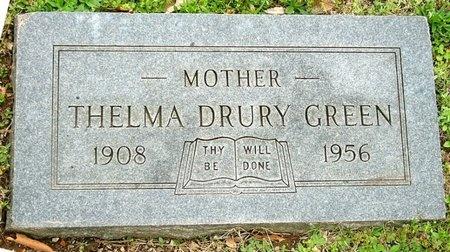 GREEN, THELMA DRURY - Jasper County, Missouri | THELMA DRURY GREEN - Missouri Gravestone Photos