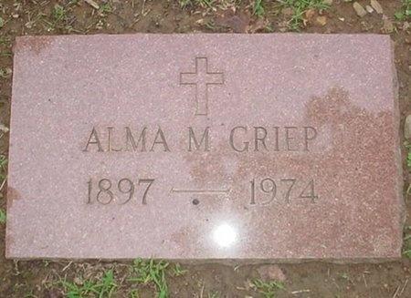 GRIEP, ALMA M. - Jasper County, Missouri   ALMA M. GRIEP - Missouri Gravestone Photos